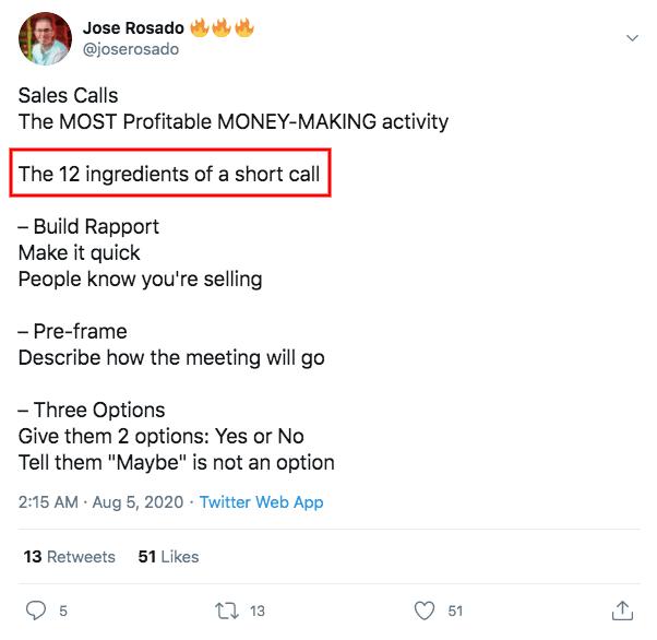 jose rosado's tweet